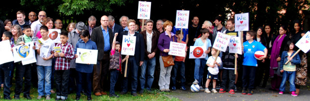 Community, schoolchildren, councillors and Mps show strength of support for retention of vital sports facilities.